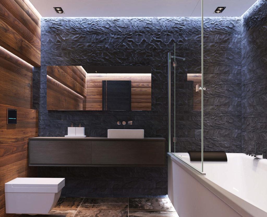 Тумба в ванной в современном стиле