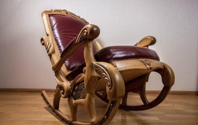 деревянное кресло качалка особенности моделей фото