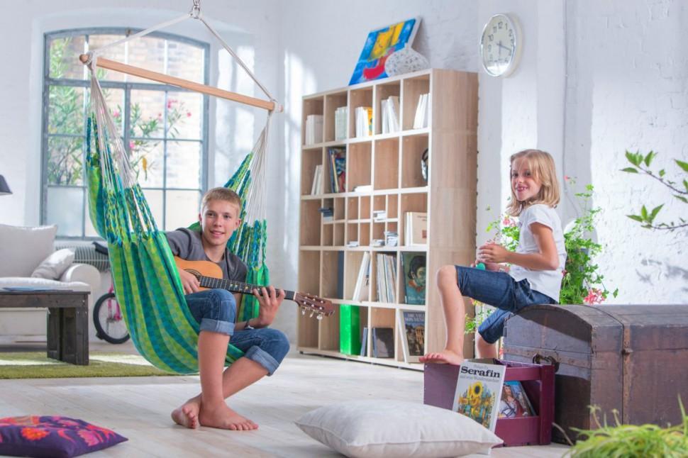 Кресло гамак - фото в интерьере детской