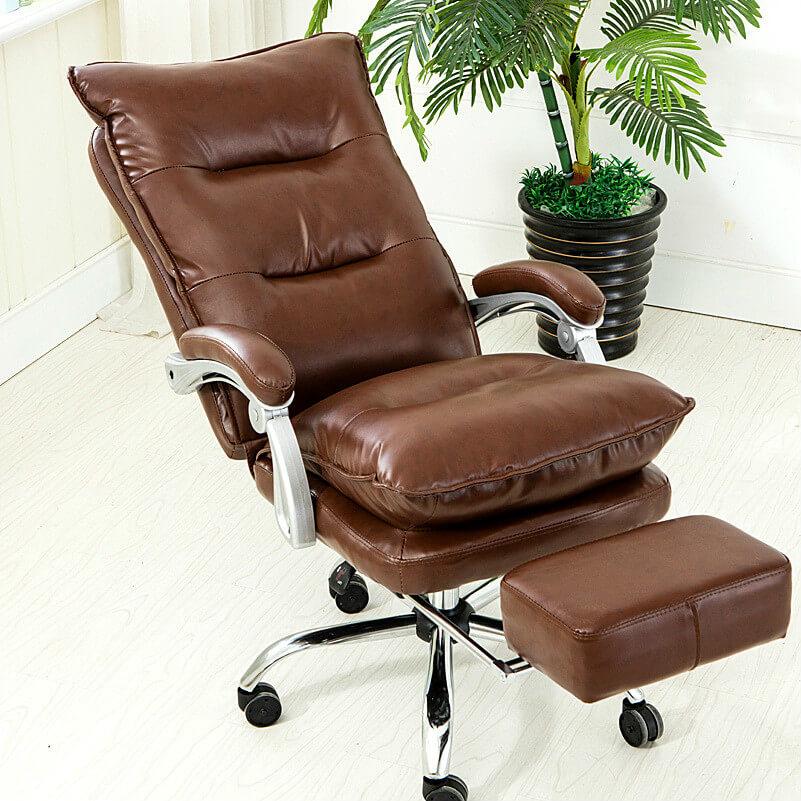 Фото кожаного компьютерного кресла