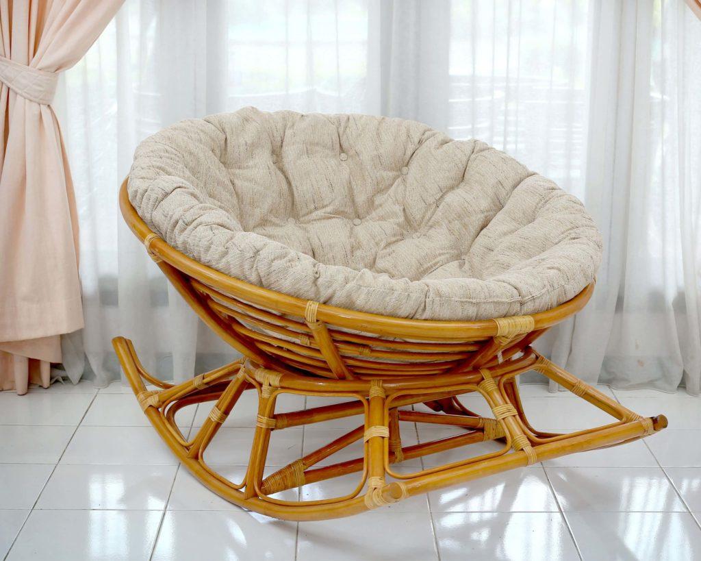 Кресло качалка Папасан на полозьях