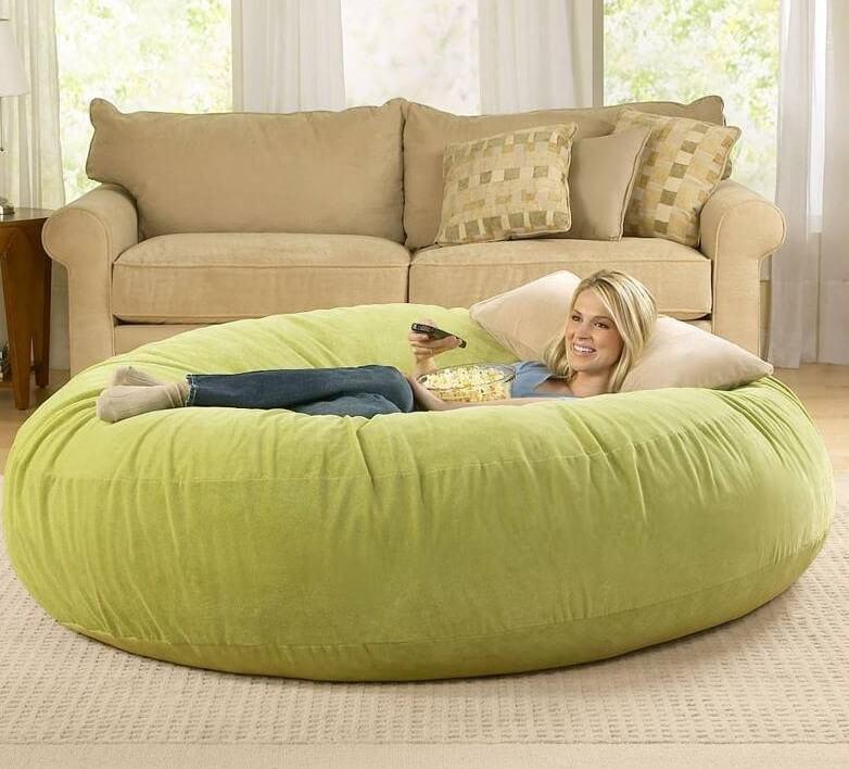 Большое круглое кресло подушка