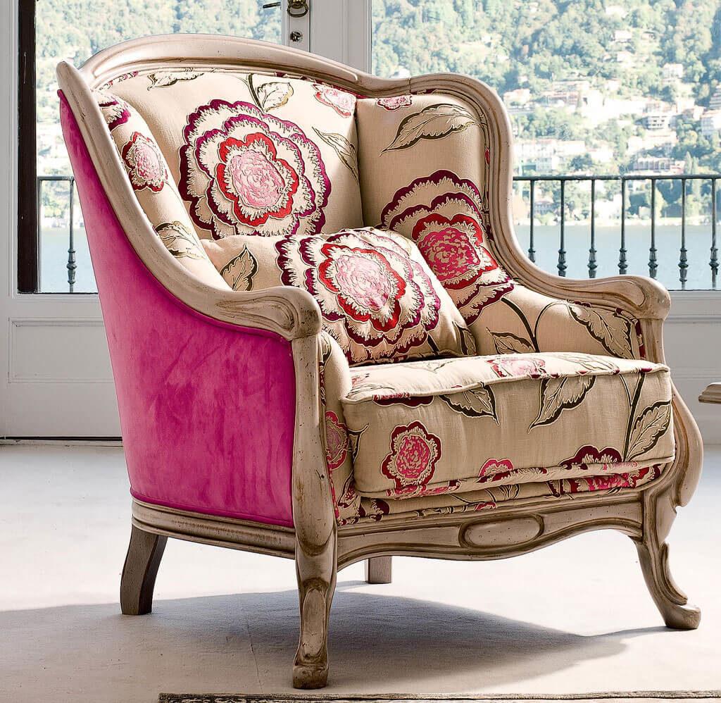 Мягкое кресло в стиле Прованс