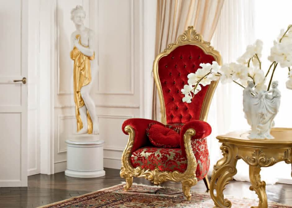 Красное кресло трон