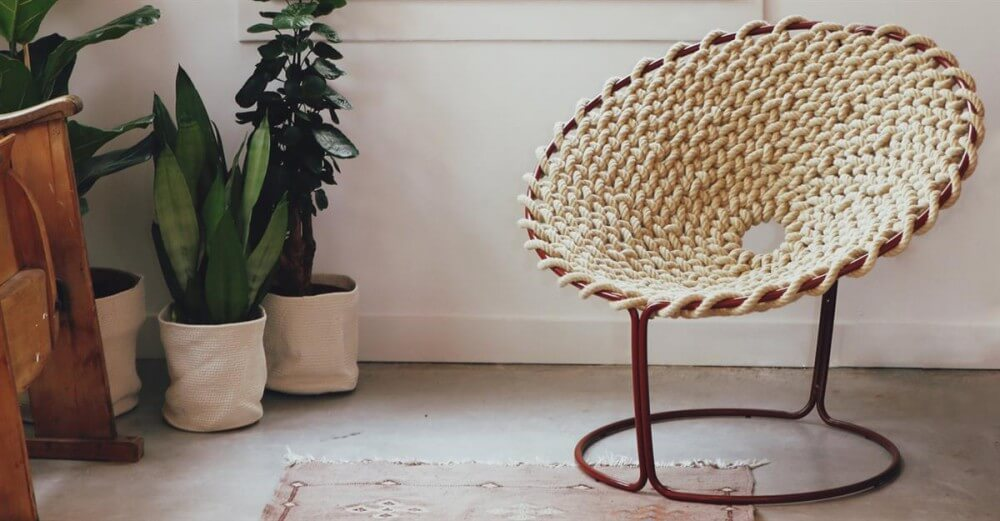 Фото круглого плетеного кресла