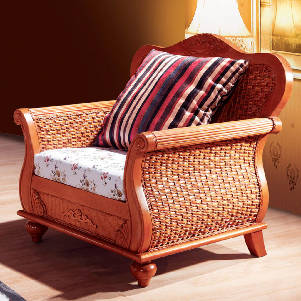 Фото плетеного кресла