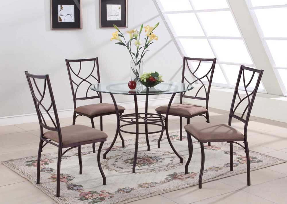 Кованые металлические стулья для кухни