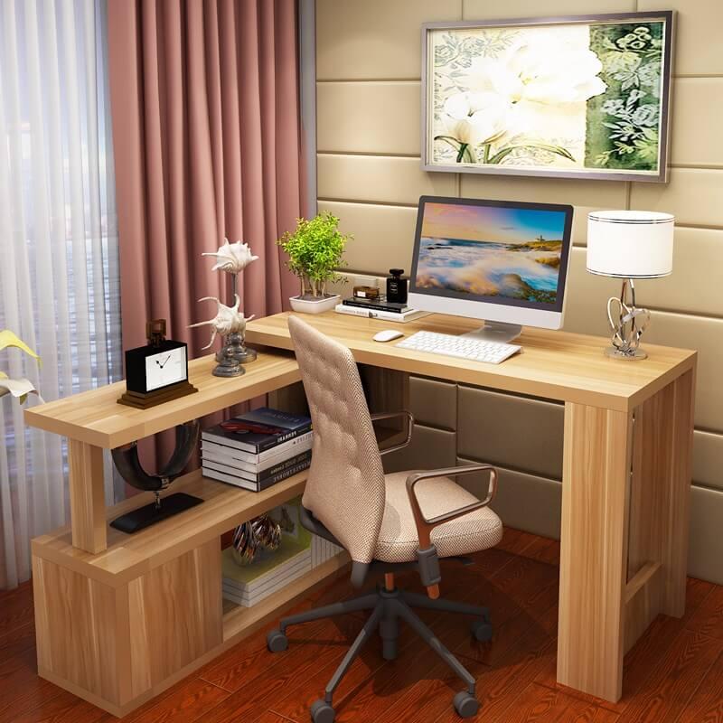 Угловой компьютерный стол из массива дерева