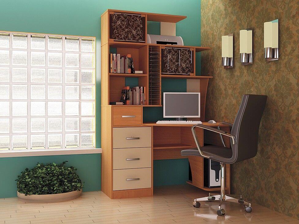Компьютерный стол со шкафом пеналом