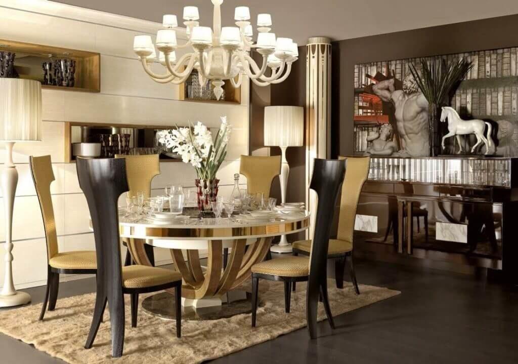 Фото стульев в интерьере гостиной-столовой