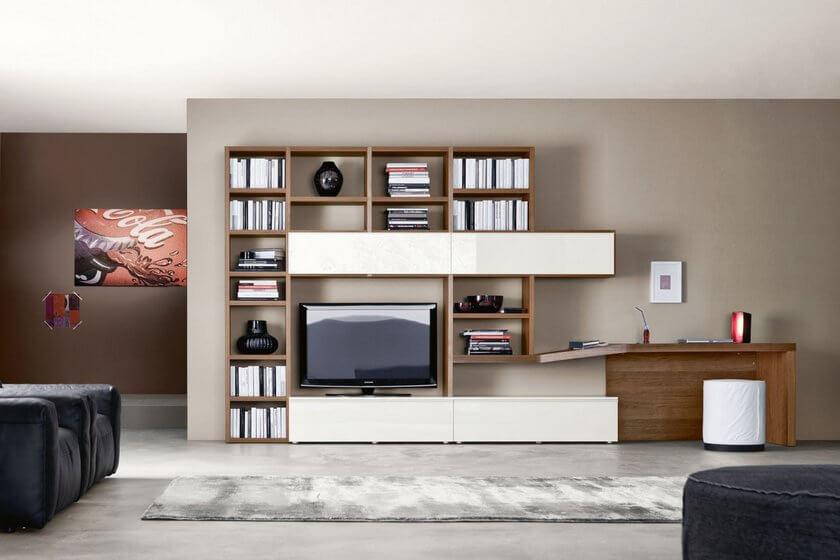 Фото мебельной стенки с компьютерным столом