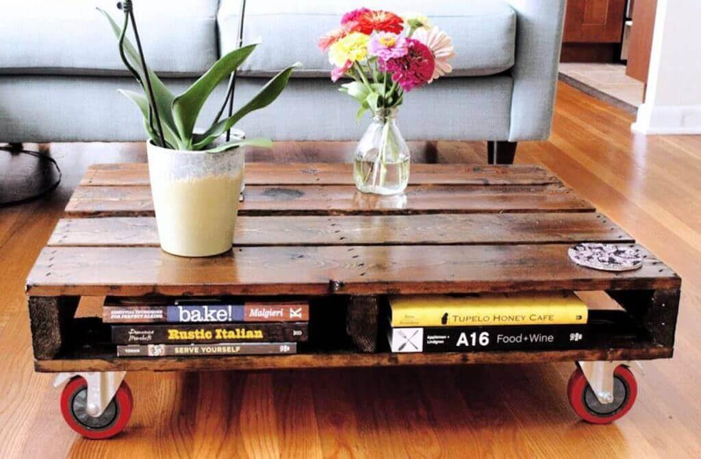 Как сделать стол из паллетов