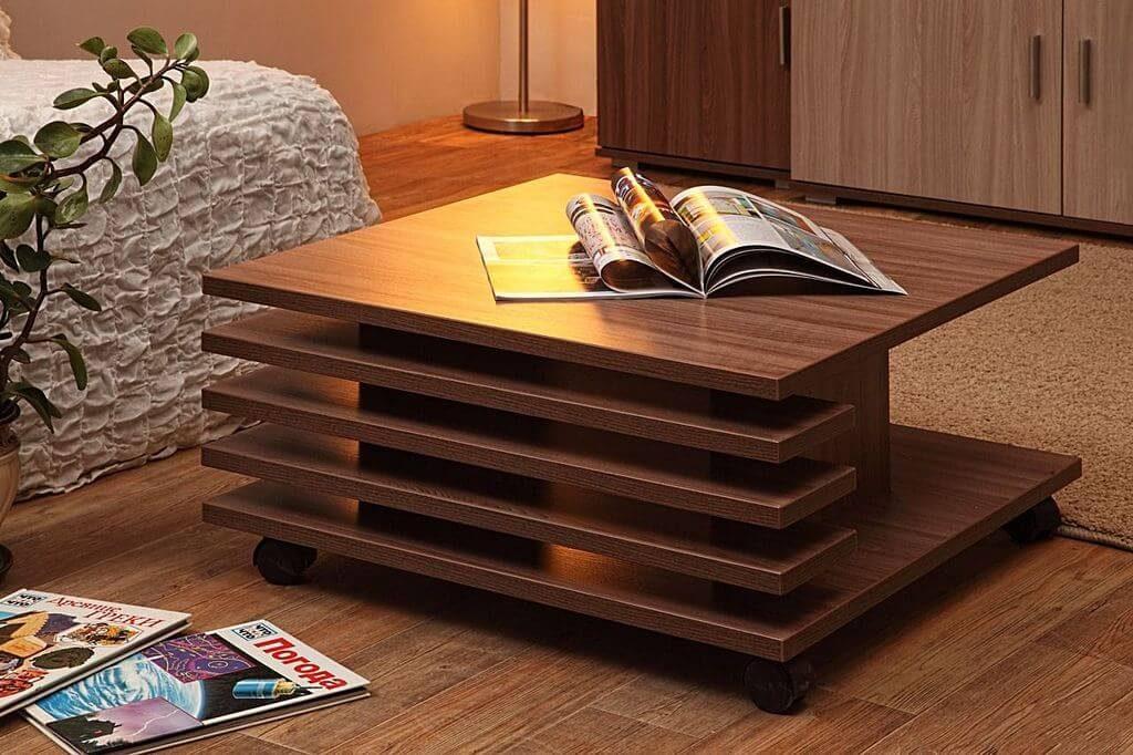 Стильный передвижной журнальный стол