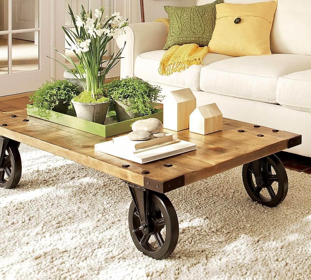 Стол на колесиках в стиле лофт