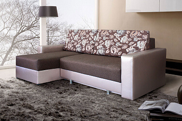 угловой диван с механизмом трансформации еврокнижка