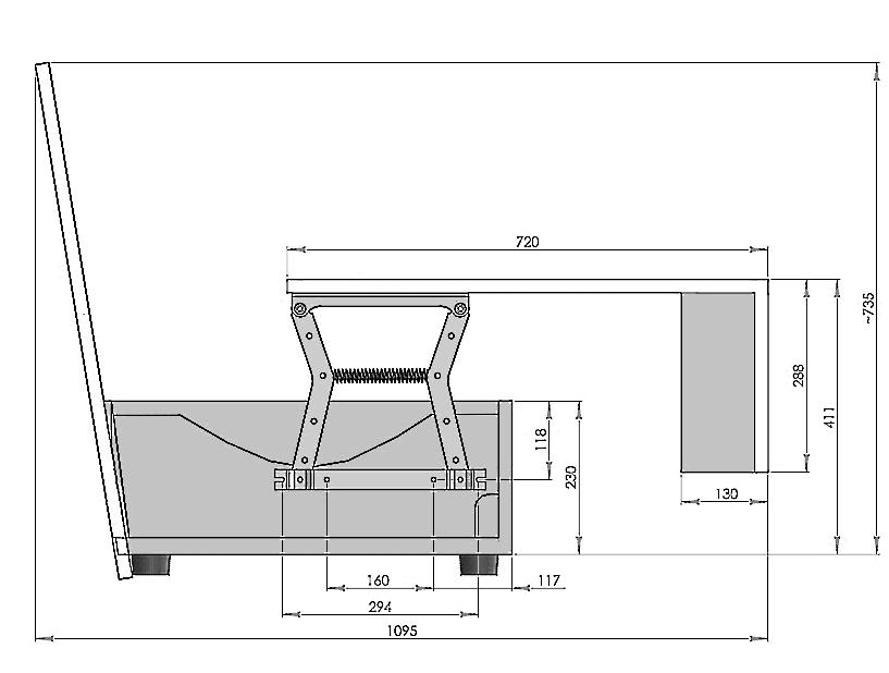 механизм трансформации пантограф