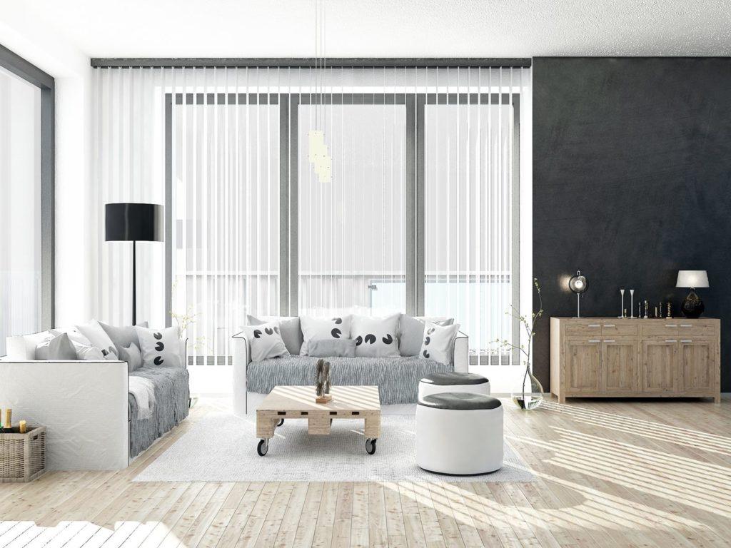 Фото гостиной с двумя диванами