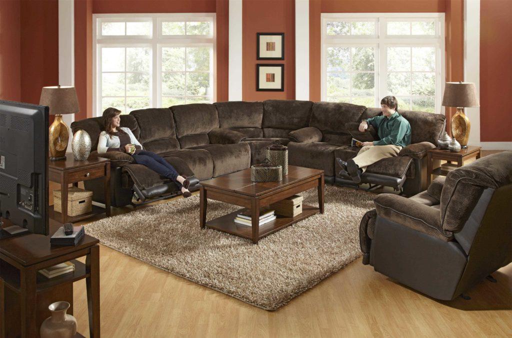 Большой угловой диван реклайнер