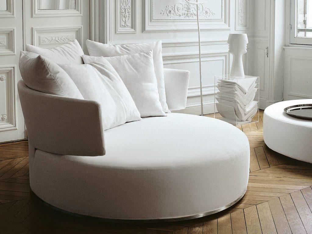 Цельнокаркасный круглый диван