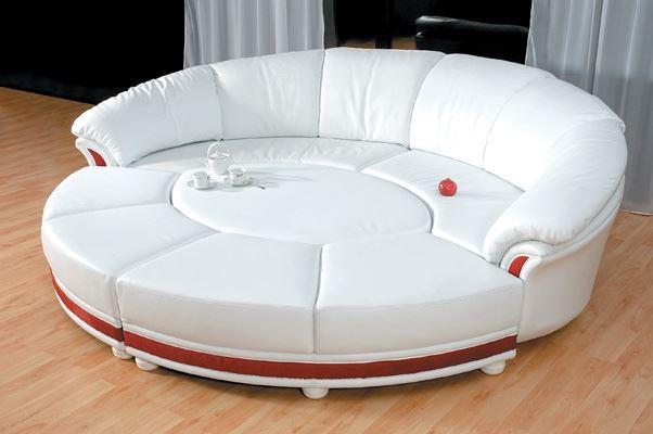 Фото модульного круглого дивана