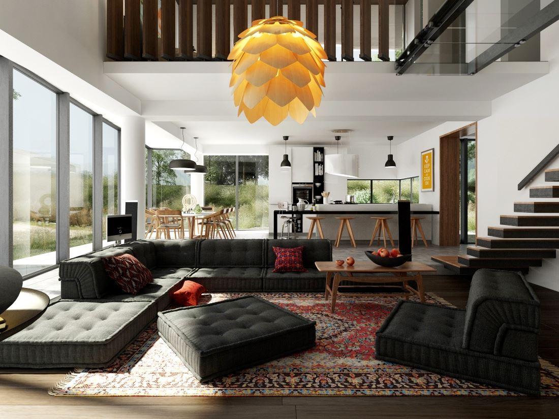 Модульный диван для гостиной (42)