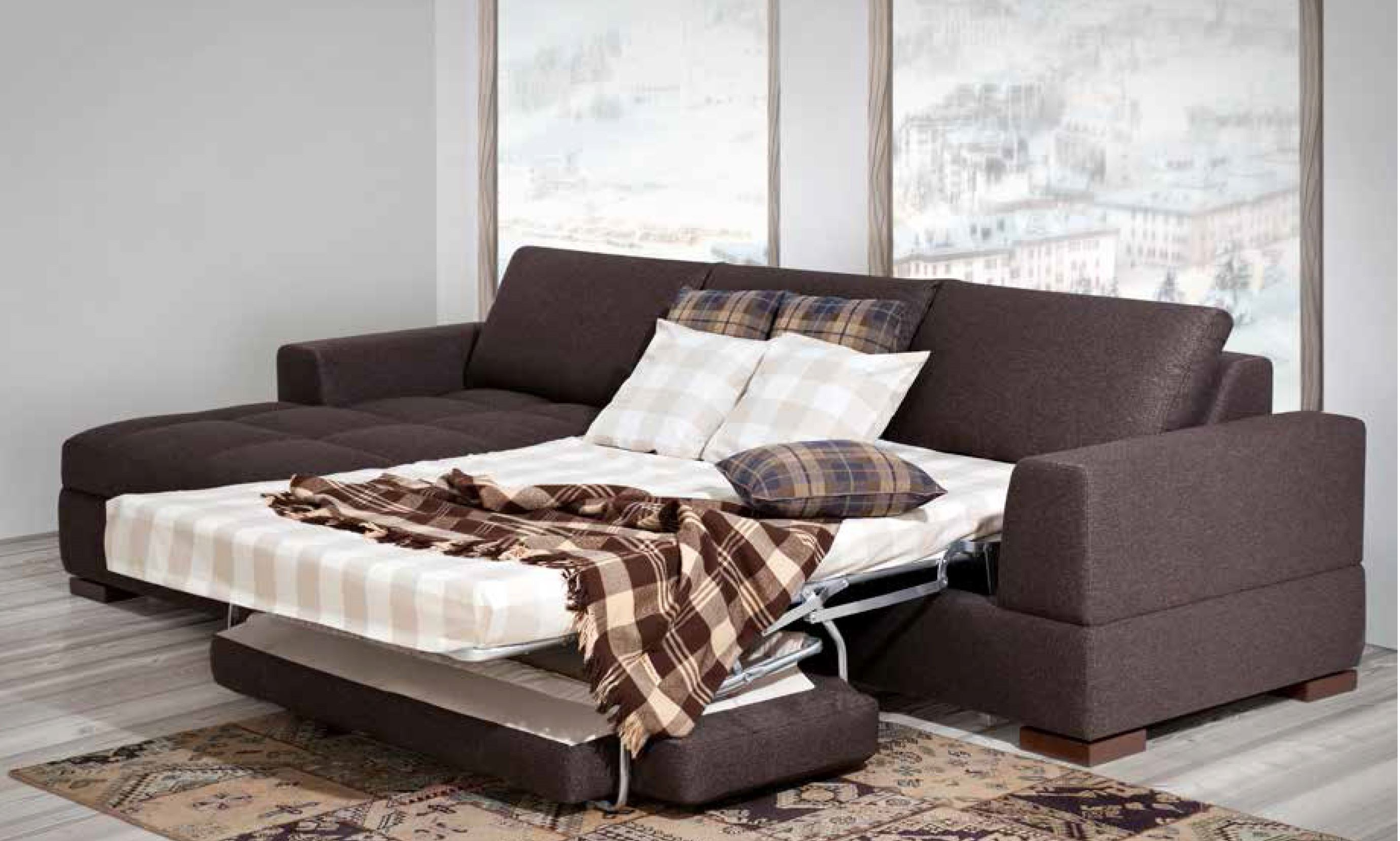 Модульный диван со спальным местом (11)