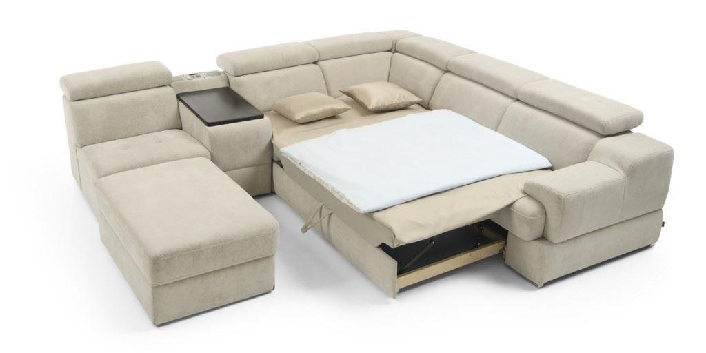 Раскладной модульный диван с механизмом для ежедневного сна