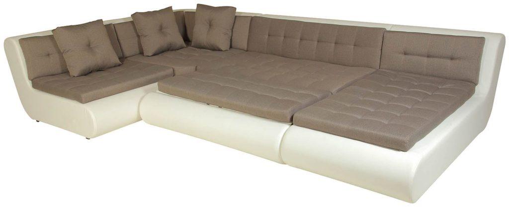 Большой секционный диван со спальным местом