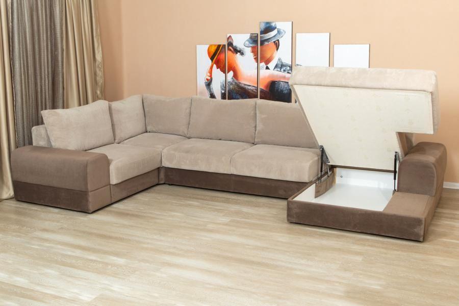 Модульный диван с большим ящиком для белья