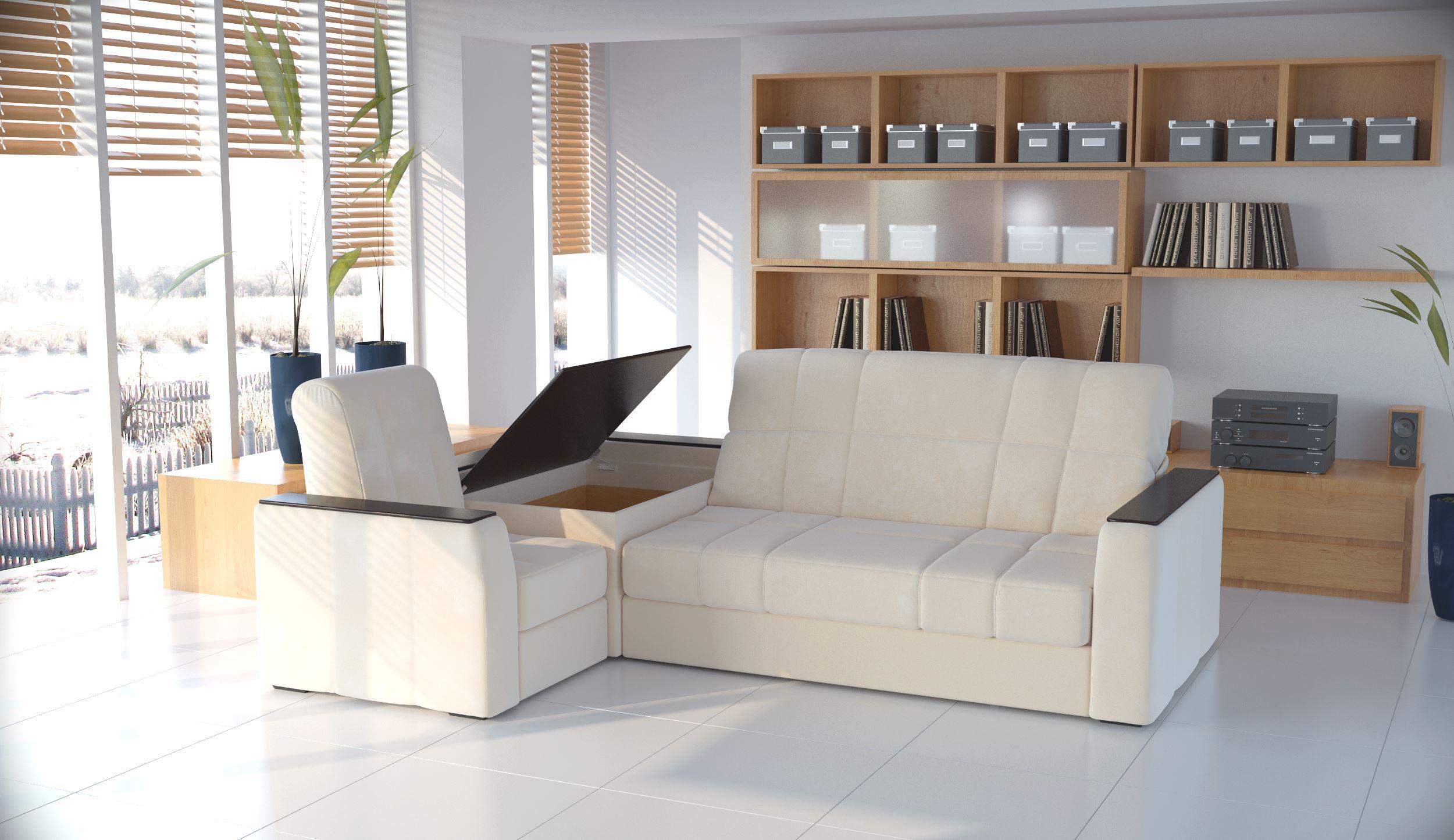 Островной диван в интерьере (15)