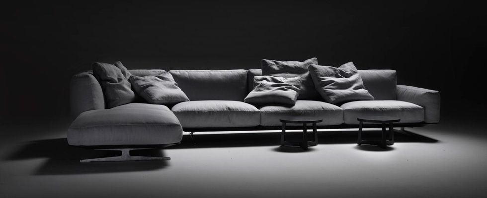 Фото стильного островного дивана