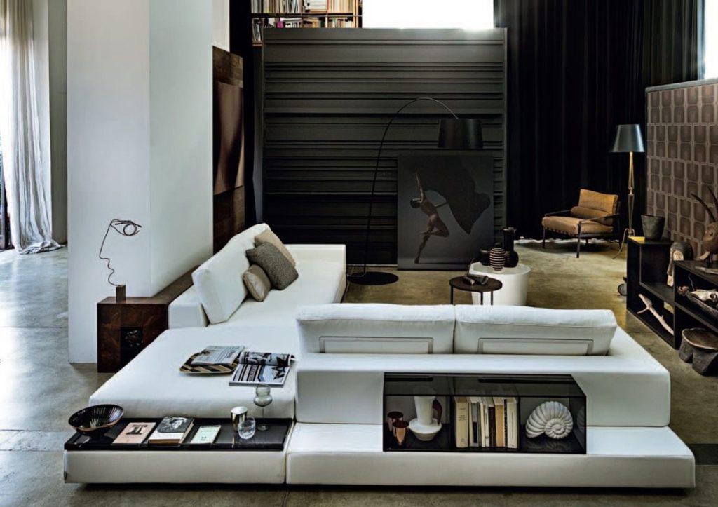 Большой островной диван из нескольких модулей