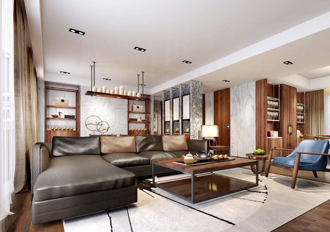 Угловой диван в интерьере гостиной (1)
