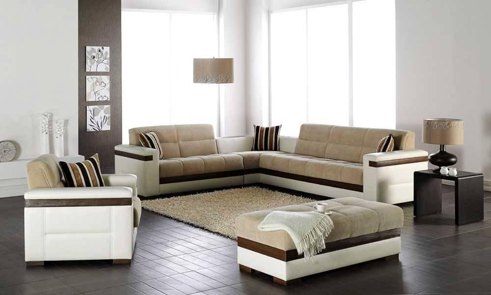 Угловой диван в интерьере гостиной (17)