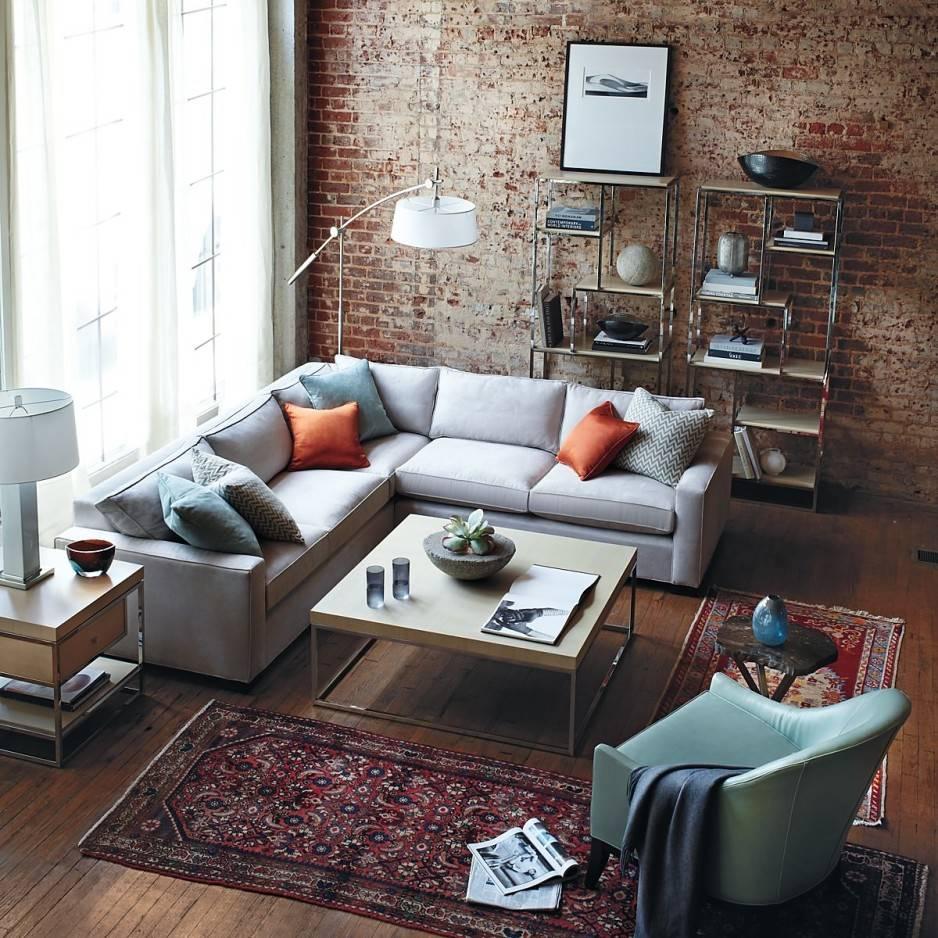 Угловой диван в интерьере гостиной (26)