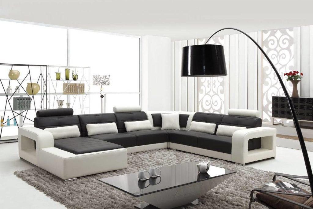 Угловые диваны в интерьере гостиной комнаты
