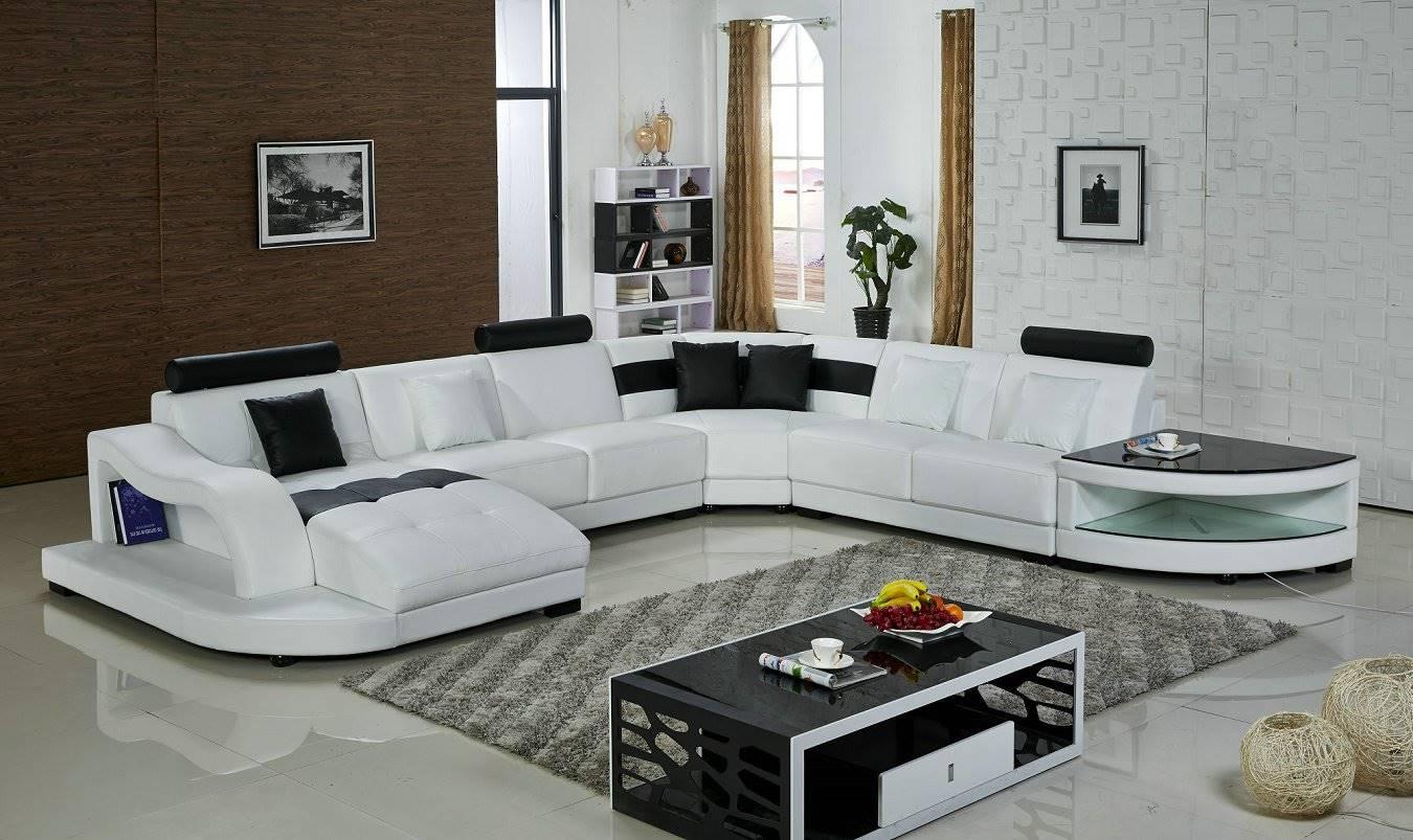 Угловой диван в интерьере гостиной (36)