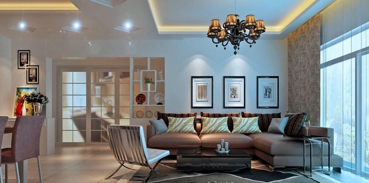 Угловой диван в интерьере гостиной (6)