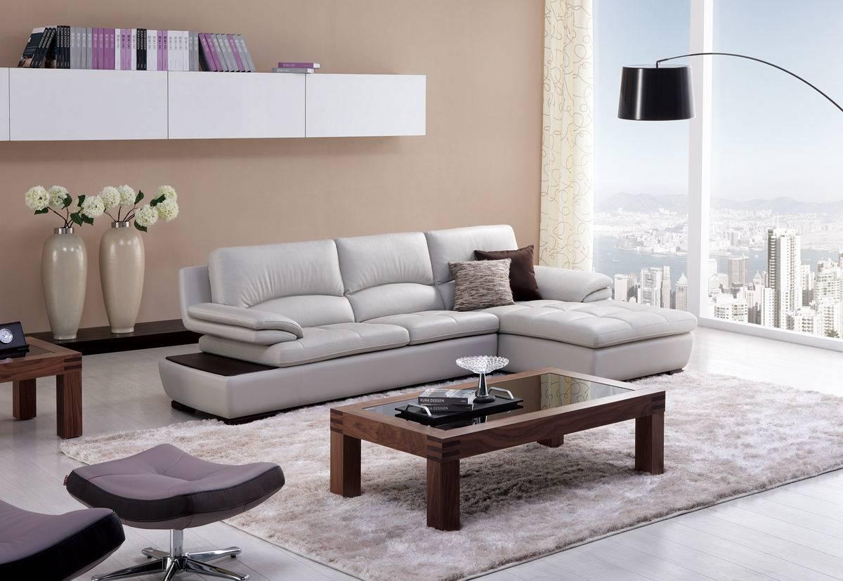 Угловой диван в интерьере гостиной (9)