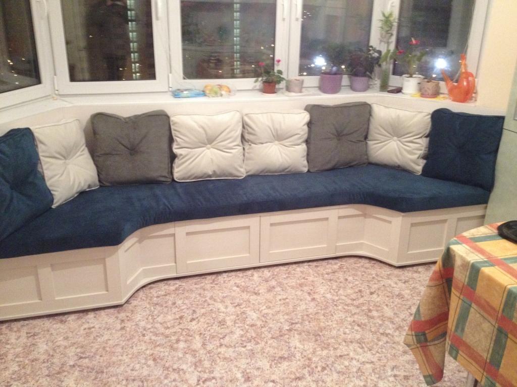 Эркерный диван на кухню своими руками 11