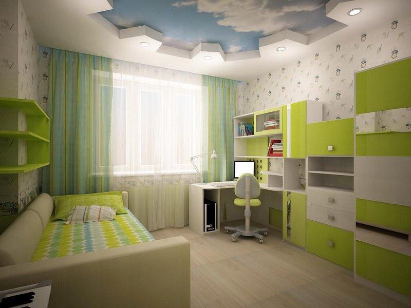 Фото ремонта детской комнаты для мальчика школьника