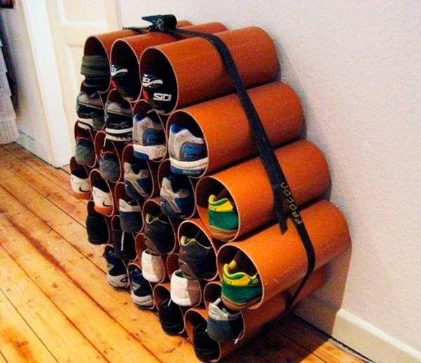 Обувница своими руками из подручных средств