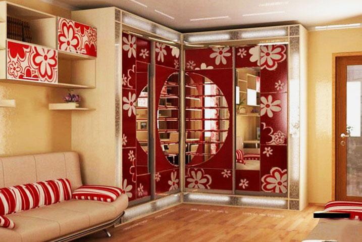 Дизайн шкаф купе в однокомнатной квартире