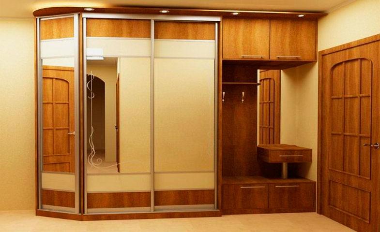 Шкафы купе дизайн в прихожей