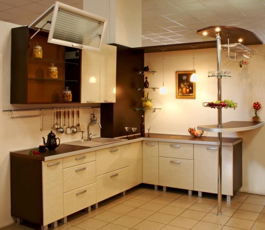 Кухня дизайн угловые с барной стойкой